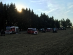 Waldbrand in Sparbach